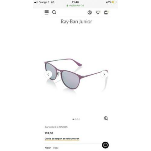 Ray-Ban zonnebril junior