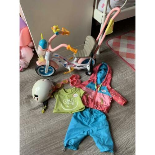 Baby Born Play & Fun Fiets, luxe outfit en helm