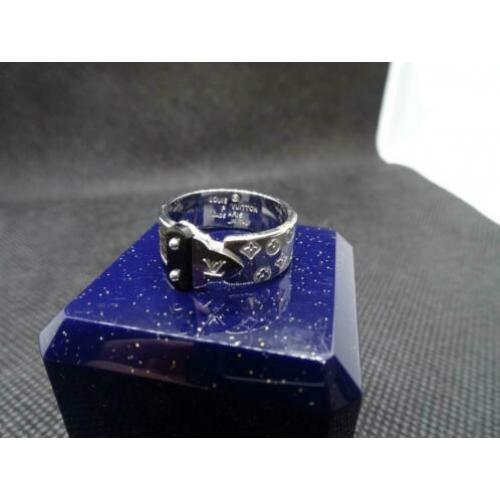 Louis Vuitton Lock Ring Zilver Maat 17/17.5